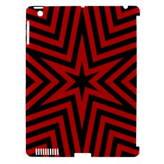 Star Red Kaleidoscope Pattern Apple Ipad 3/4 Hardshell Case (compatible With Smart Cover)