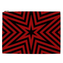 Star Red Kaleidoscope Pattern Cosmetic Bag (XXL)