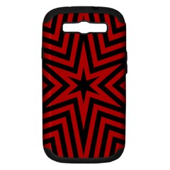 Star Red Kaleidoscope Pattern Samsung Galaxy S Iii Hardshell Case (pc+silicone)