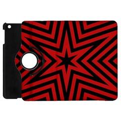 Star Red Kaleidoscope Pattern Apple Ipad Mini Flip 360 Case