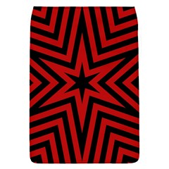 Star Red Kaleidoscope Pattern Flap Covers (s)