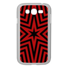 Star Red Kaleidoscope Pattern Samsung Galaxy Grand Duos I9082 Case (white)