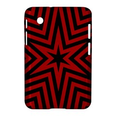 Star Red Kaleidoscope Pattern Samsung Galaxy Tab 2 (7 ) P3100 Hardshell Case