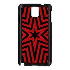 Star Red Kaleidoscope Pattern Samsung Galaxy Note 3 N9005 Case (black)