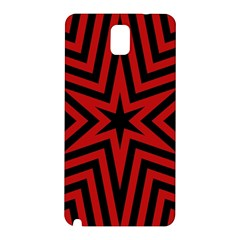 Star Red Kaleidoscope Pattern Samsung Galaxy Note 3 N9005 Hardshell Back Case
