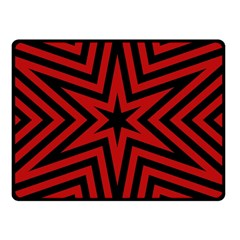 Star Red Kaleidoscope Pattern Double Sided Fleece Blanket (small)