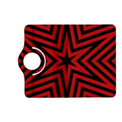 Star Red Kaleidoscope Pattern Kindle Fire Hd (2013) Flip 360 Case
