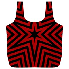 Star Red Kaleidoscope Pattern Full Print Recycle Bags (l)