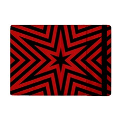 Star Red Kaleidoscope Pattern Ipad Mini 2 Flip Cases