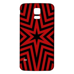 Star Red Kaleidoscope Pattern Samsung Galaxy S5 Back Case (white)