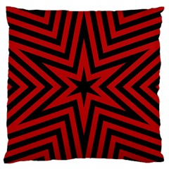 Star Red Kaleidoscope Pattern Large Flano Cushion Case (two Sides)