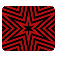 Star Red Kaleidoscope Pattern Double Sided Flano Blanket (small)