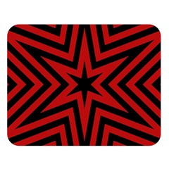 Star Red Kaleidoscope Pattern Double Sided Flano Blanket (large)