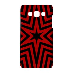 Star Red Kaleidoscope Pattern Samsung Galaxy A5 Hardshell Case