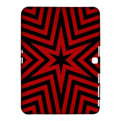 Star Red Kaleidoscope Pattern Samsung Galaxy Tab 4 (10.1 ) Hardshell Case