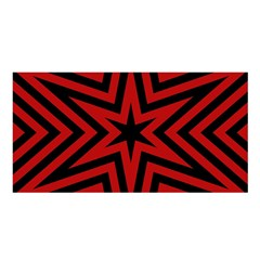 Star Red Kaleidoscope Pattern Satin Shawl
