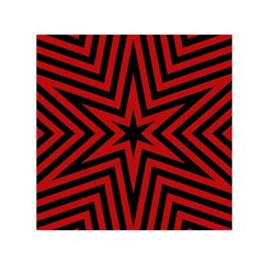 Star Red Kaleidoscope Pattern Small Satin Scarf (Square)