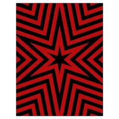 Star Red Kaleidoscope Pattern Drawstring Bag (large)