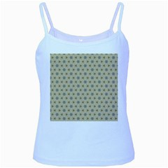 Star Basket Pattern Basket Pattern Baby Blue Spaghetti Tank