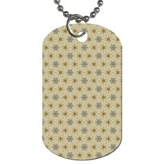 Star Basket Pattern Basket Pattern Dog Tag (Two Sides)