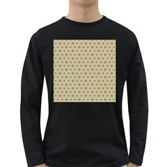 Star Basket Pattern Basket Pattern Long Sleeve Dark T Shirts