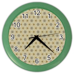 Star Basket Pattern Basket Pattern Color Wall Clocks