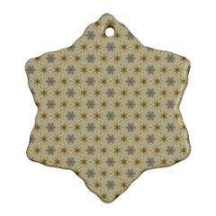 Star Basket Pattern Basket Pattern Ornament (snowflake)