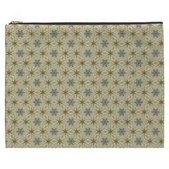 Star Basket Pattern Basket Pattern Cosmetic Bag (xxxl)