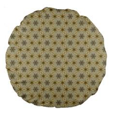 Star Basket Pattern Basket Pattern Large 18  Premium Round Cushions
