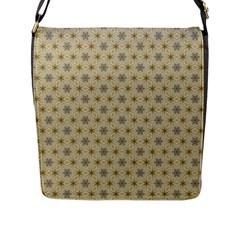 Star Basket Pattern Basket Pattern Flap Messenger Bag (l)