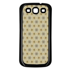 Star Basket Pattern Basket Pattern Samsung Galaxy S3 Back Case (Black)