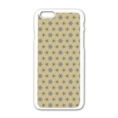 Star Basket Pattern Basket Pattern Apple Iphone 6/6s White Enamel Case