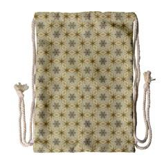 Star Basket Pattern Basket Pattern Drawstring Bag (large)