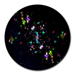 Star Structure Many Repetition Round Mousepads