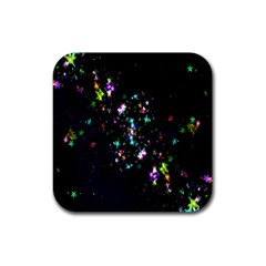 Star Structure Many Repetition Rubber Coaster (square)