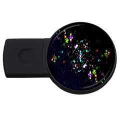 Star Structure Many Repetition USB Flash Drive Round (2 GB)
