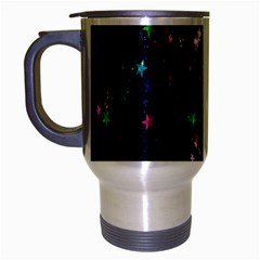 Star Structure Many Repetition Travel Mug (silver Gray)