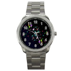 Star Structure Many Repetition Sport Metal Watch