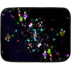Star Structure Many Repetition Double Sided Fleece Blanket (mini)