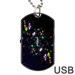 Star Structure Many Repetition Dog Tag Usb Flash (one Side)