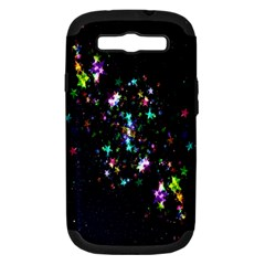 Star Structure Many Repetition Samsung Galaxy S III Hardshell Case (PC+Silicone)