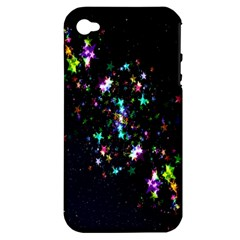 Star Structure Many Repetition Apple Iphone 4/4s Hardshell Case (pc+silicone)