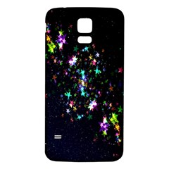 Star Structure Many Repetition Samsung Galaxy S5 Back Case (white)