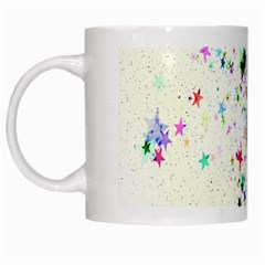 Star Structure Many Repetition White Mugs