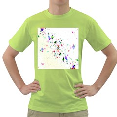 Star Structure Many Repetition Green T Shirt