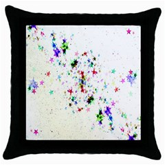 Star Structure Many Repetition Throw Pillow Case (black)