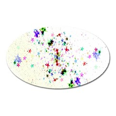 Star Structure Many Repetition Oval Magnet