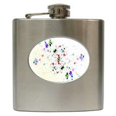 Star Structure Many Repetition Hip Flask (6 Oz)