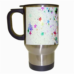 Star Structure Many Repetition Travel Mugs (white)