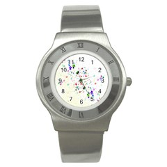Star Structure Many Repetition Stainless Steel Watch